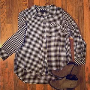 Lane Bryant Checkered Button-down Shirt
